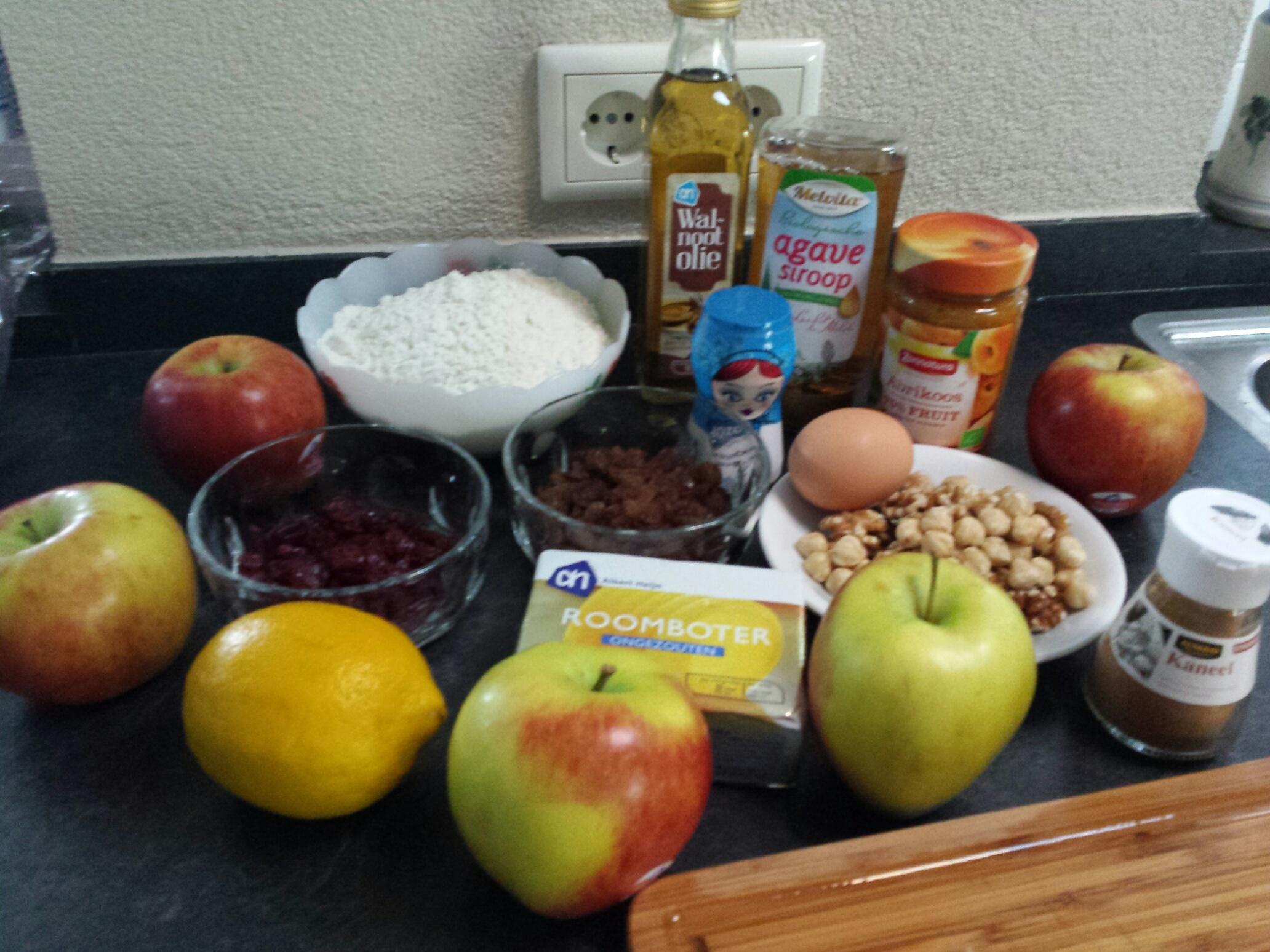 ingredienten suikervrije appeltaart
