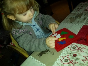 DIY kerstkaart peuter