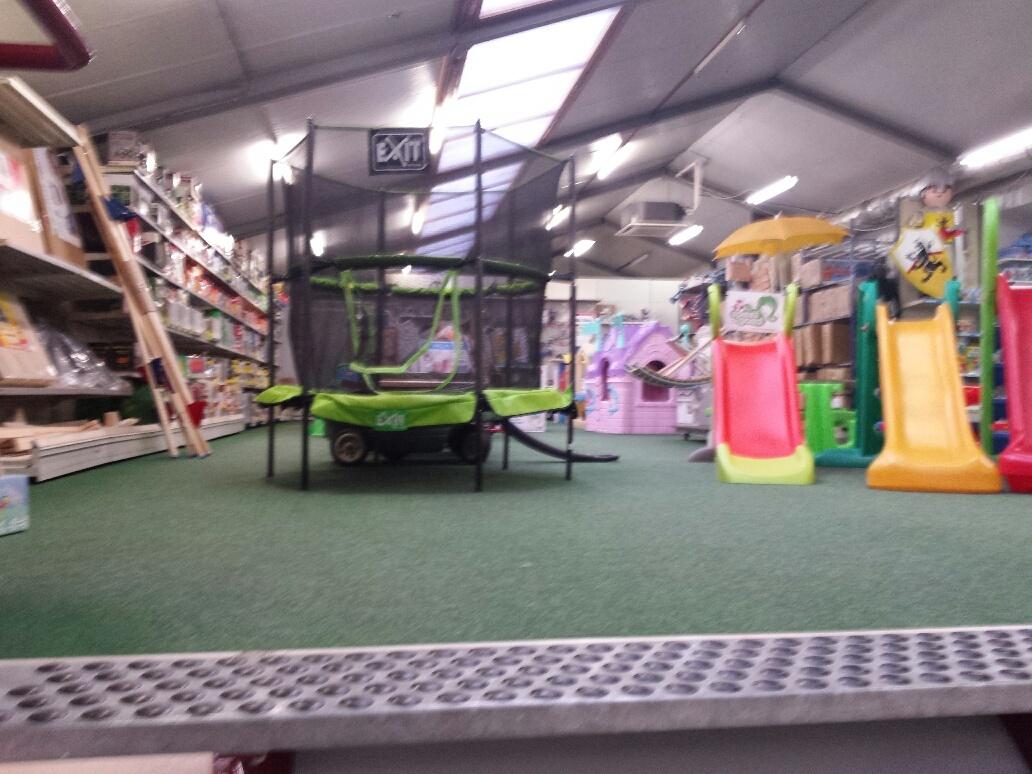 trampoline van de riet