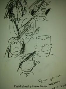 gezichten tekenen thema wie ben ik