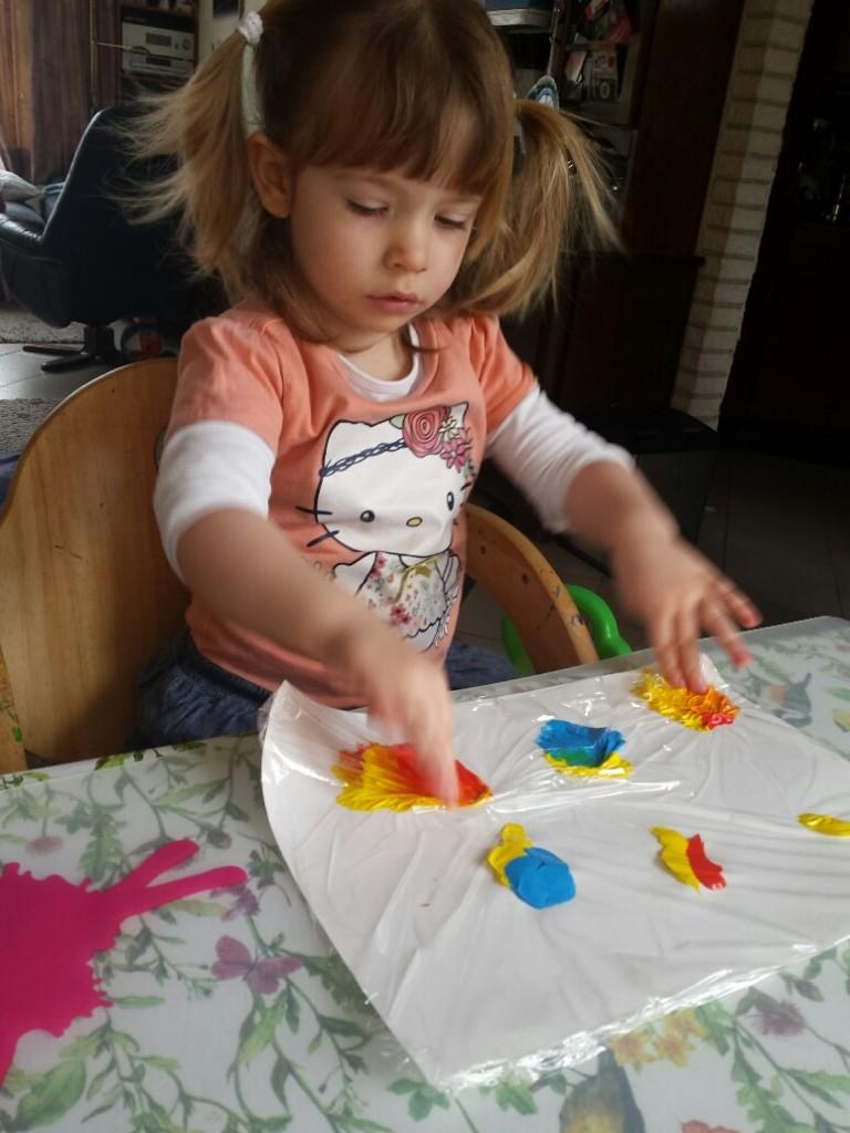 kleuren mengen Fantasie en expressie rood blauw geel