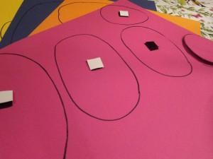 DIY kleuren puzzel  en groot - klein spel