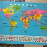 speelmatten wereldkaart