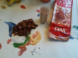 creatief met kastanjes en beukennootjes