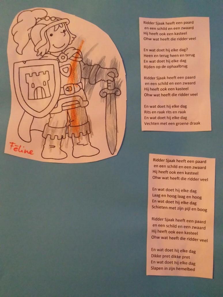 Kleurplaten Ridder Schilden.Diy Kinderliedjesboek 21 Ridder Sjaak Heeft Een Paard En