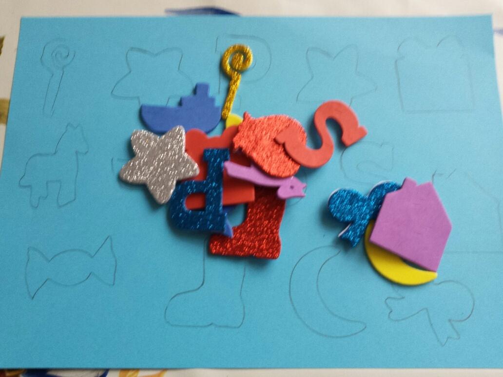 puzzelen met foamstickers