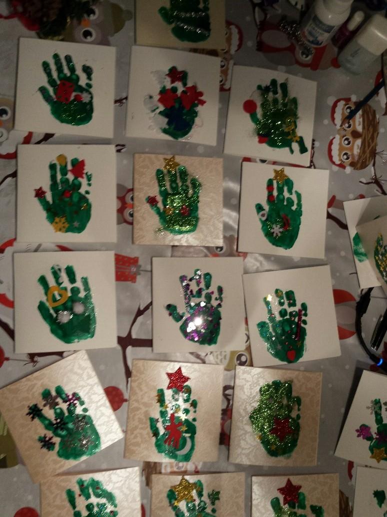 DIY kerstkaart voor kinderen