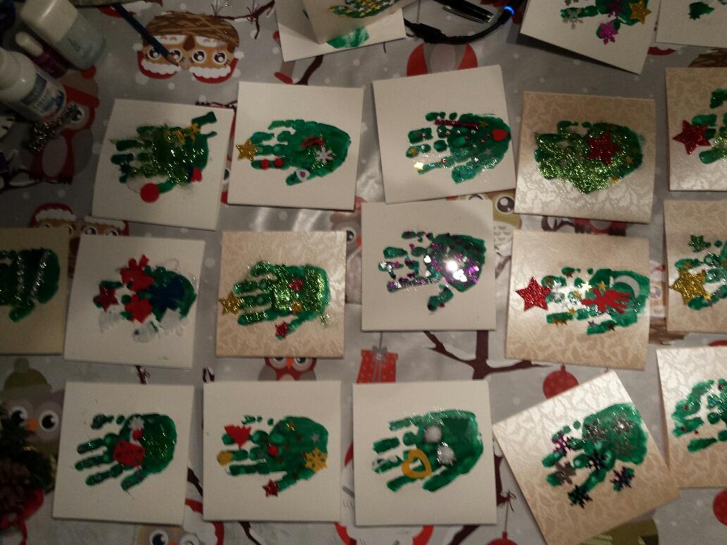 Diy Kerstkaart Voor Kinderen Met Verf En Glitters Vanaf 1 Jaar