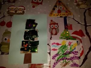 zelfgemaakte creatieve kerstboom
