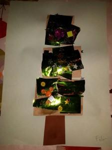 zelfgemaakte creatieve kerstbomen