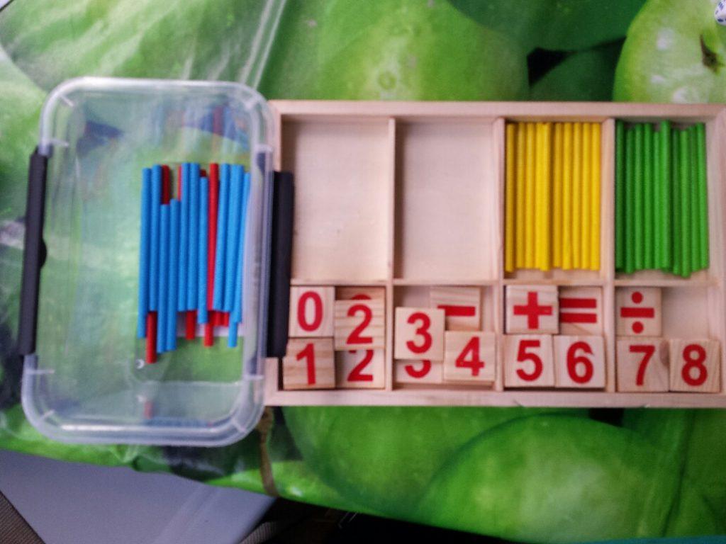 10 minuten dozen rekenen optellen en aftrekken met stokjes
