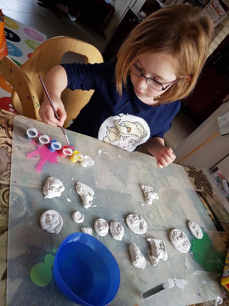 gieten en schilderen