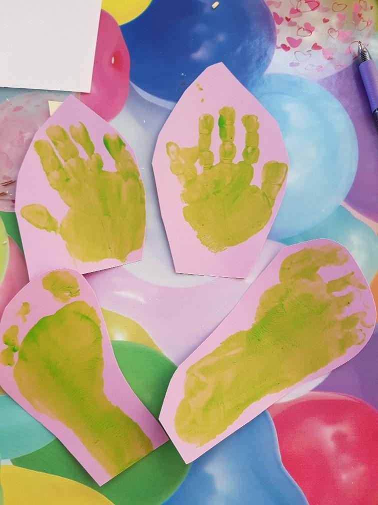knutselen voor pasen paashaas met handen en voeten
