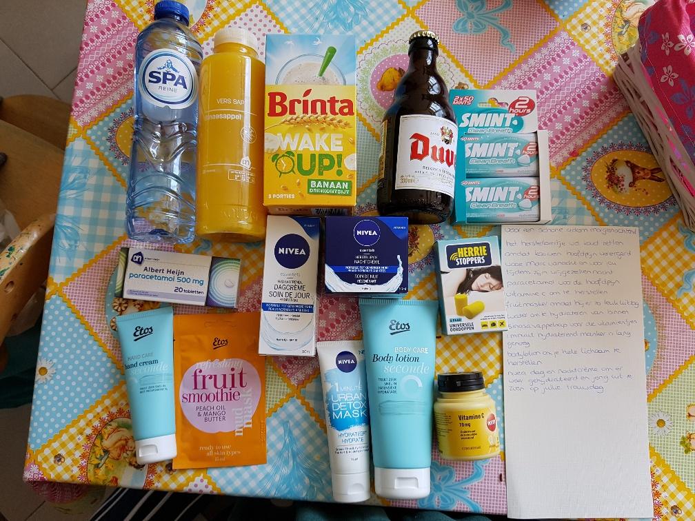 Top DIY Anti Kater pakket cadeau voor bruid en/of bruidegom &FP28