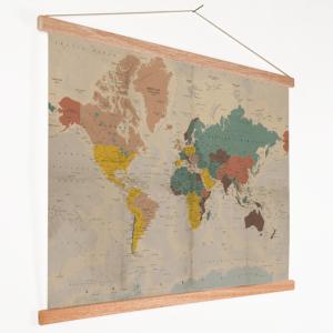 wereldkaart voor aan de wand