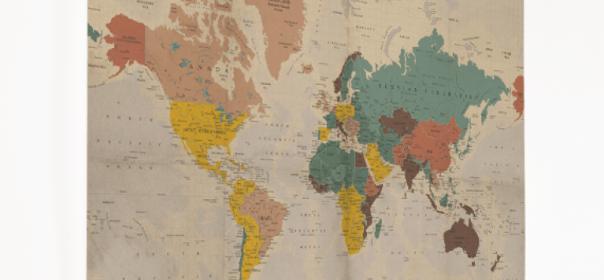 wereldkaart voor aan de muur