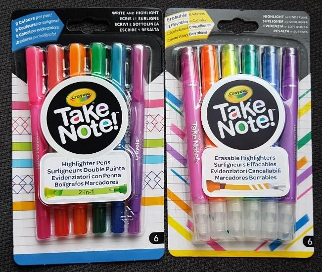 Vrolijk Je Agenda Of Notebook Op Met De Pennen En Stiften Van Crayola