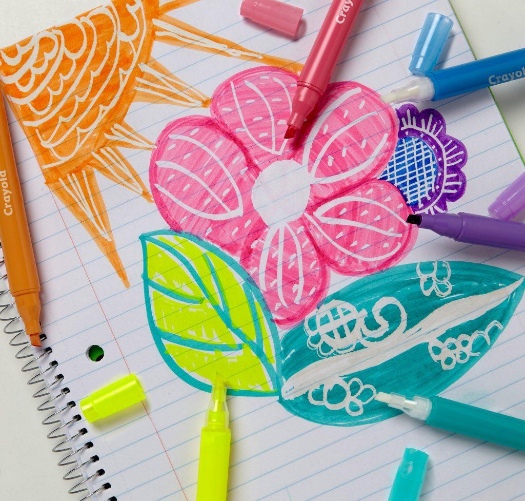 take note pennen en stiften van Crayola