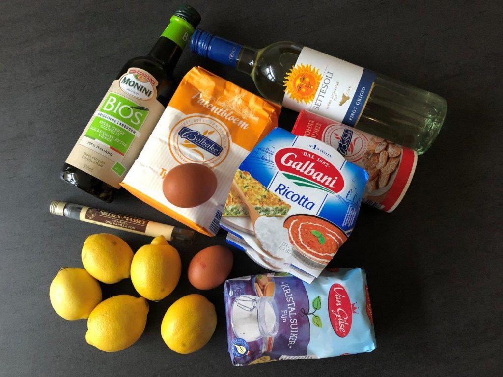 ingredienten Amalfi-citroentaart