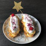Eclairs met citroenroom en meringue kerstgebak kerstmenu toetje