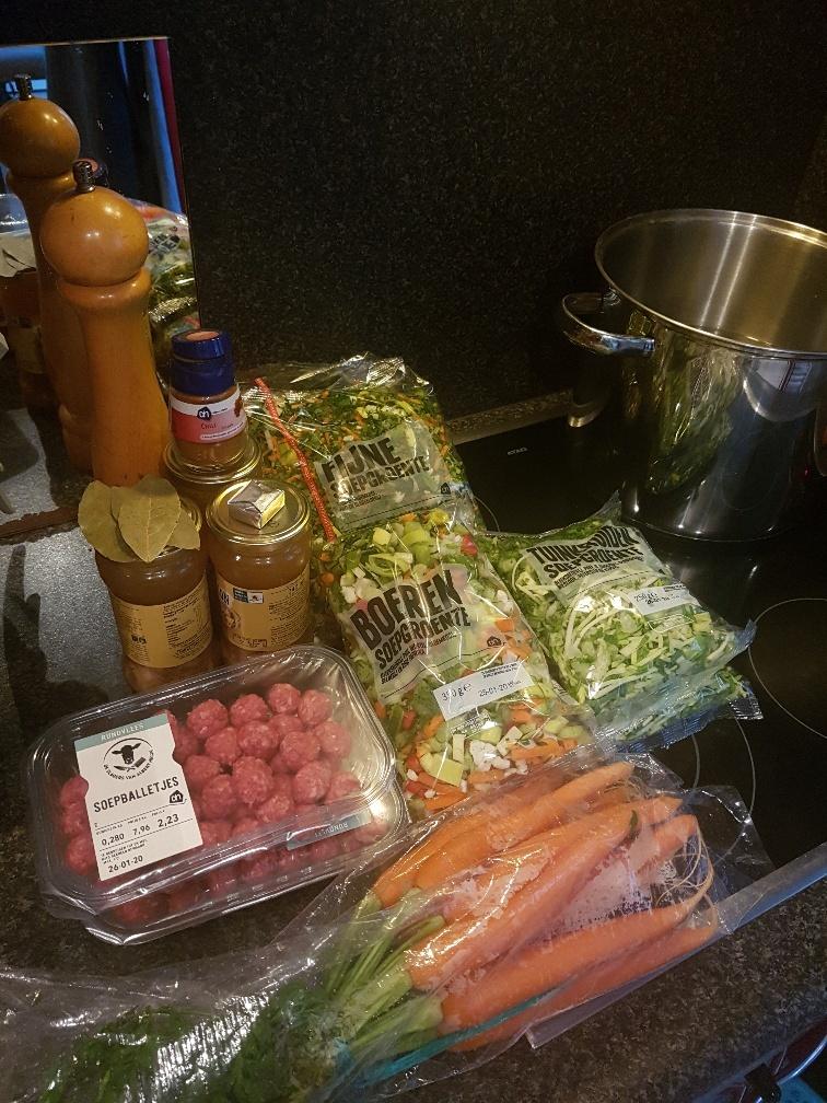 ingredienten groentesoep a la Mama