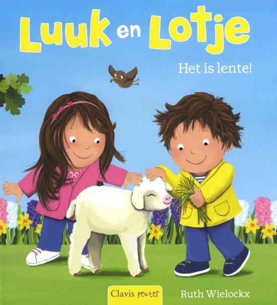 Prentenboeken thema lente en pasen Luuk en Lotje het is lente