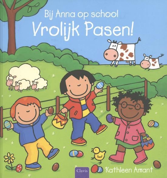 Prentenboeken thema lente en pasen bij Anna op school vrolijk pasen