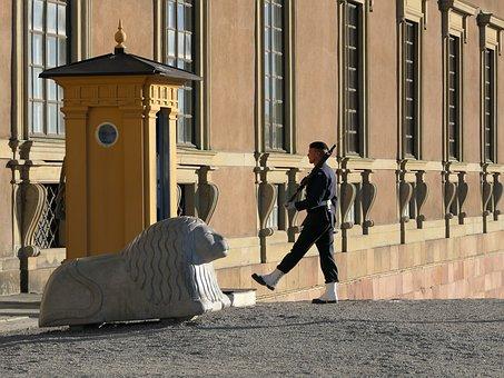 zweedse leger in kindvriendelijk Stockholm