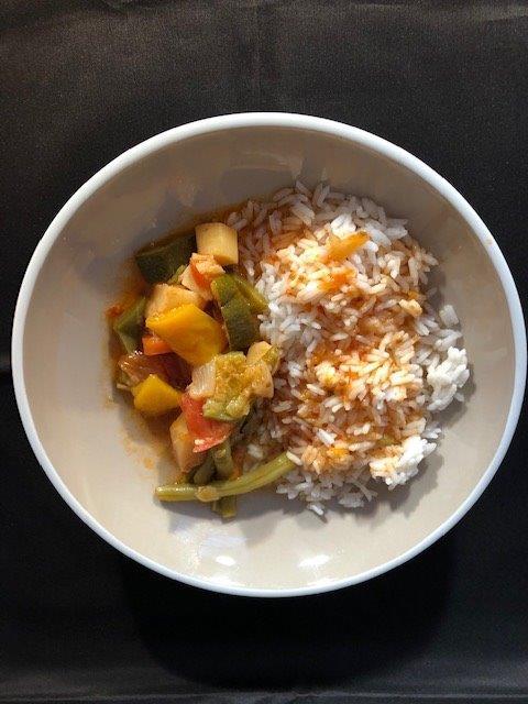ratatouille met rijst