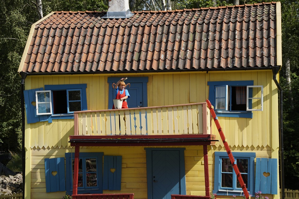 pippi langkous huis in kindvriendelijk Stockholm