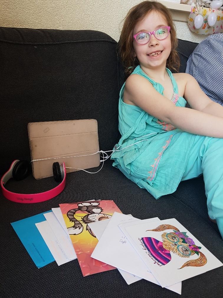 verjaardagspost meisje 7 jaar
