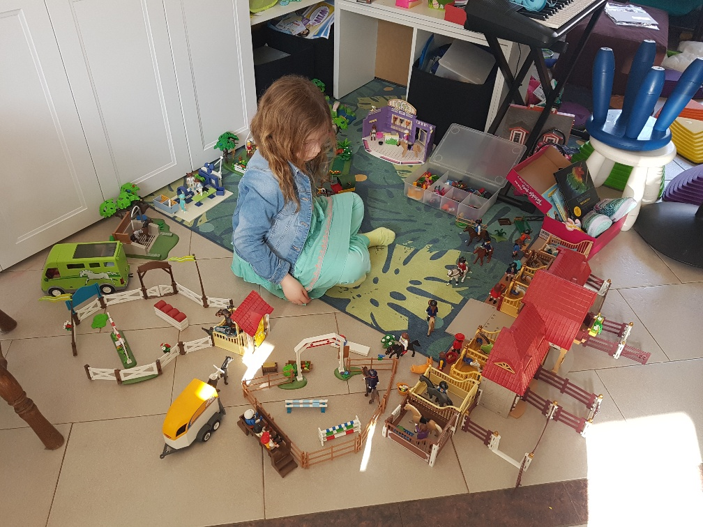 jarig tijdens Corona spelen met Playmobil Country