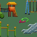kindvriendelijke tuin met veilige speeltoestellen