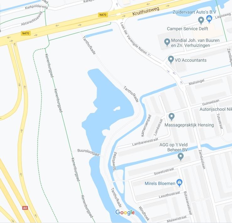 google maps van delft bosdierenpad