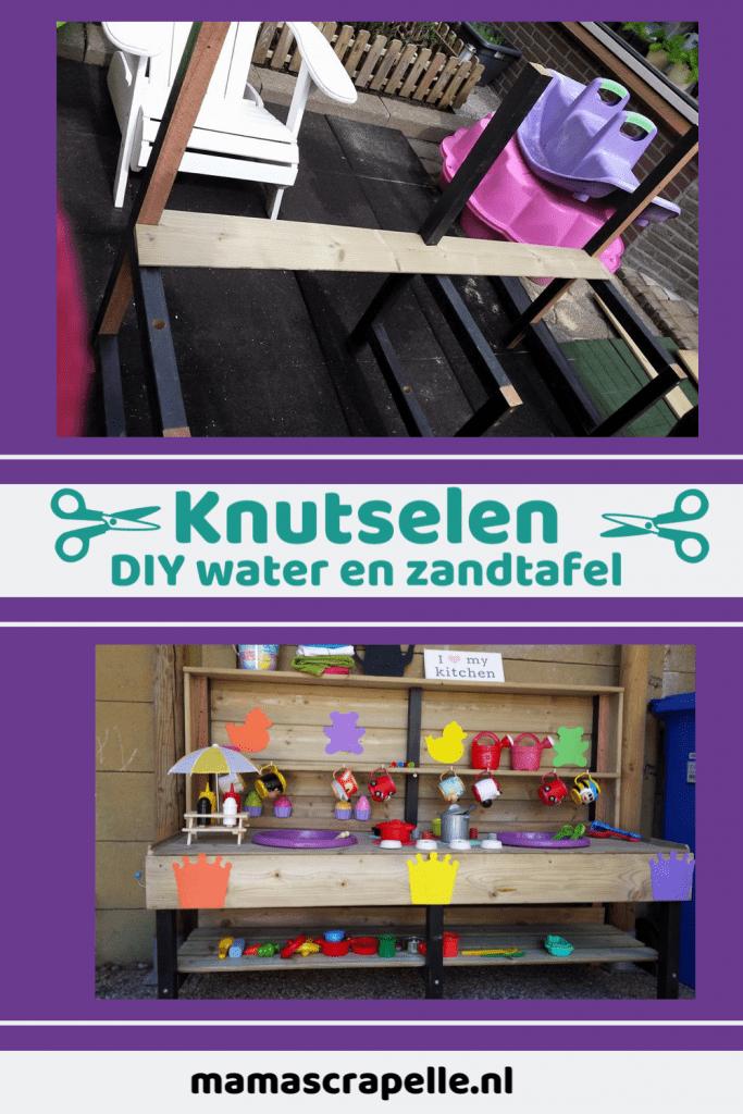 DIY water en zandtafel moddertafel buitenkeuken voor kinderen zelf maken creatief knutselen mamascrapelle