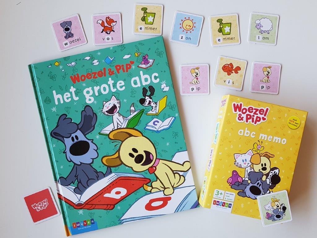 leren lezen met Woezel & Pip het grote abc boek en abc memo