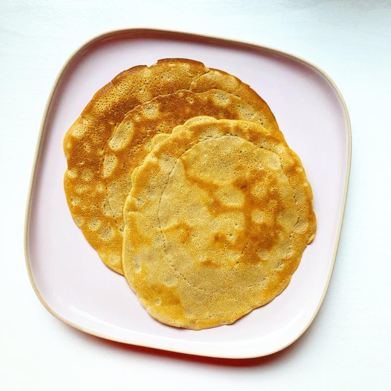thuisonderwijs lunch met pannenkoeken
