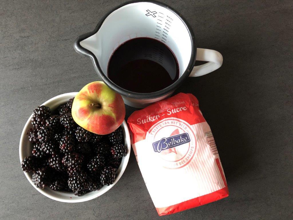 Groente en fruit zelf inmaken ingredienten bramenjam