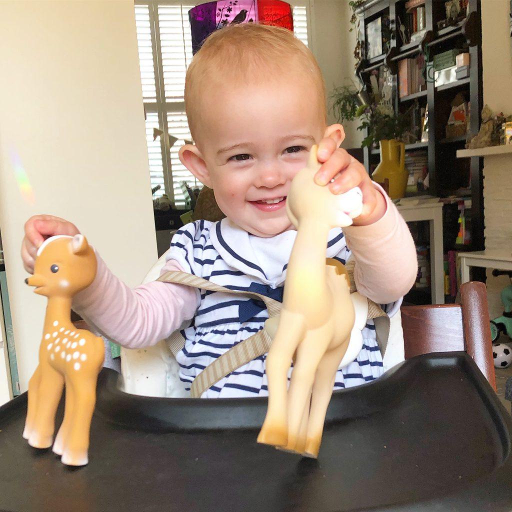 nieuwe vriendjes van Sophie de giraf
