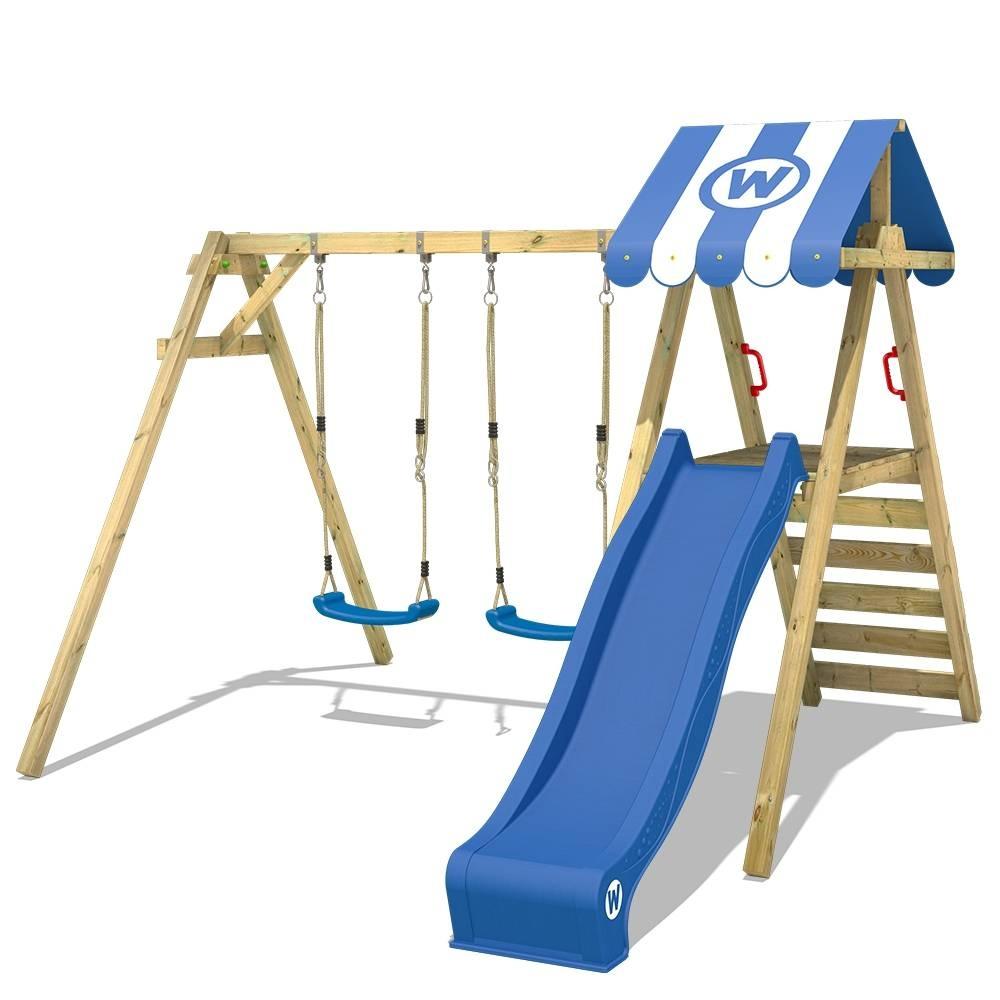 houten klimtoren houten schommel van wickey