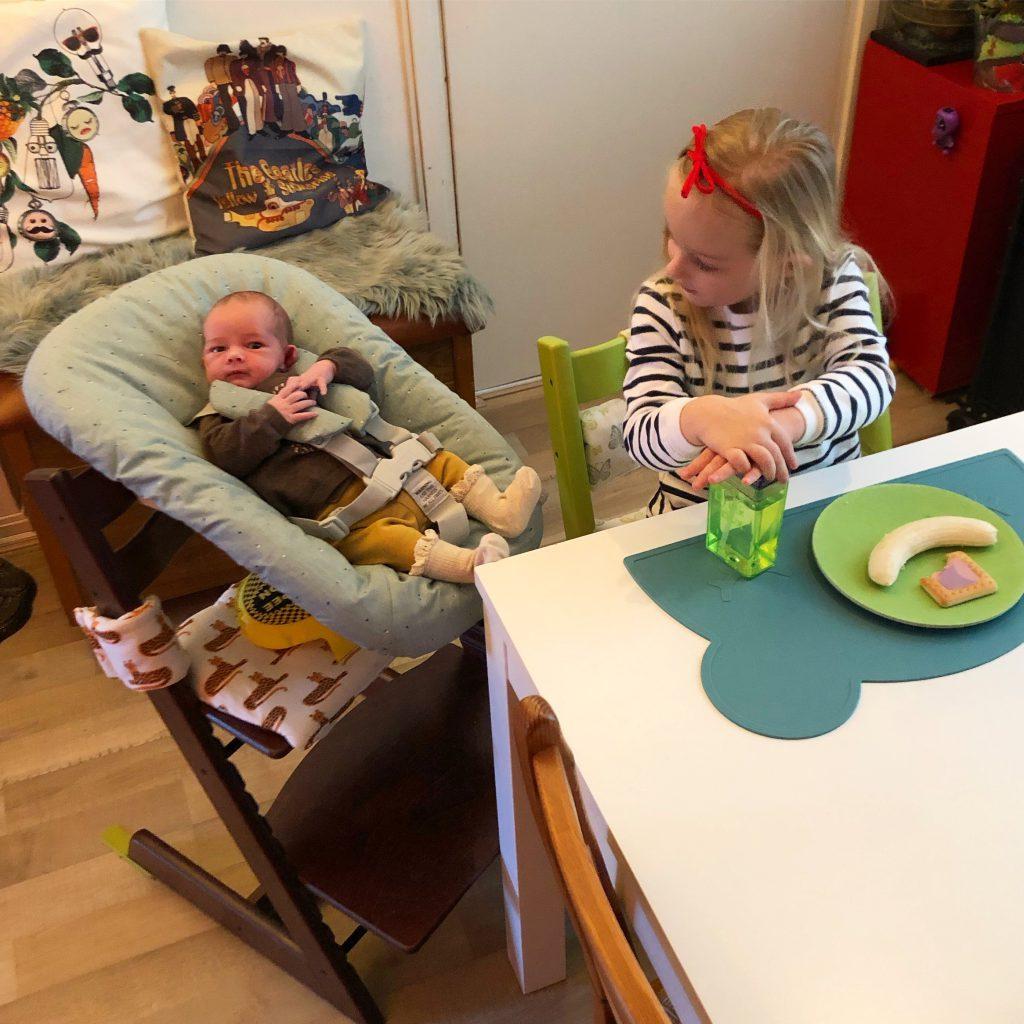 avondeten zonder kind