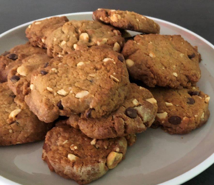 koekjes van hazelnoot en chocolade