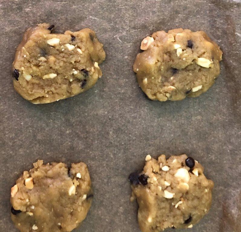 Vegan muffins en chocolate cookies