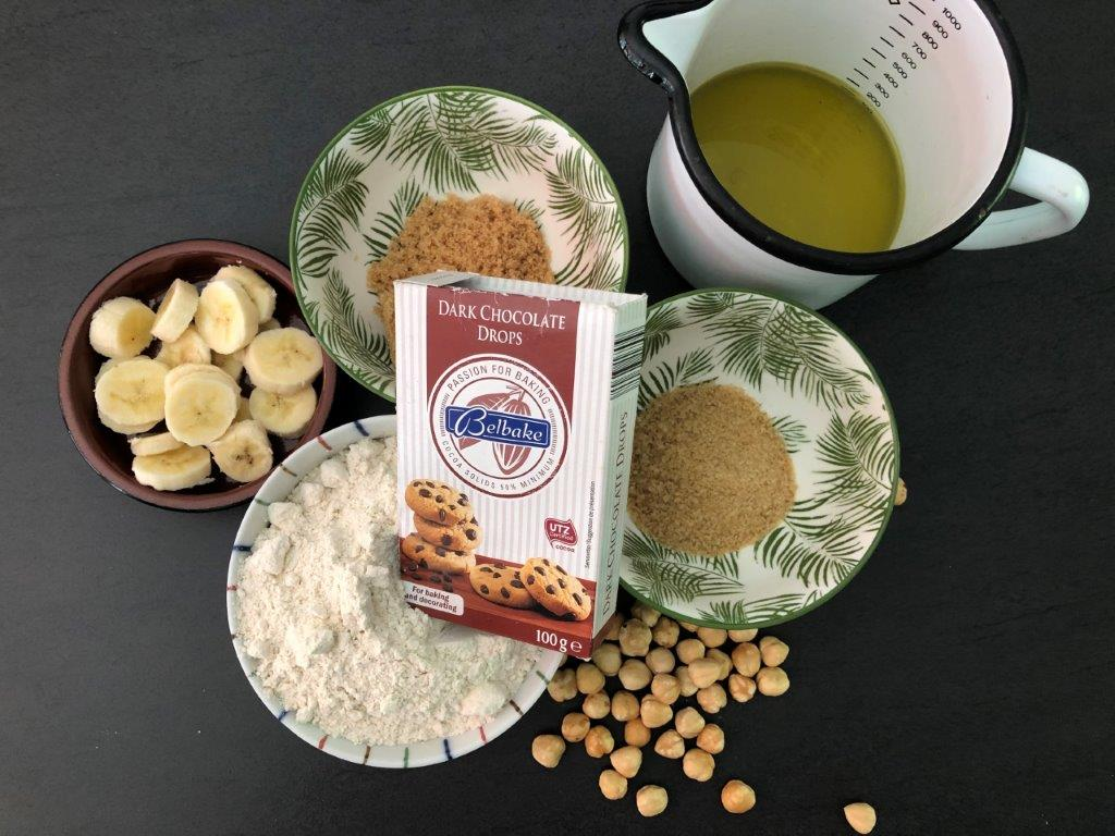 ingredienten Vegan muffins en chocolate cookies