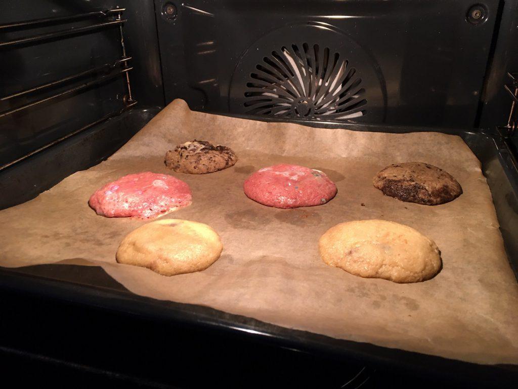 koekjes in de oven