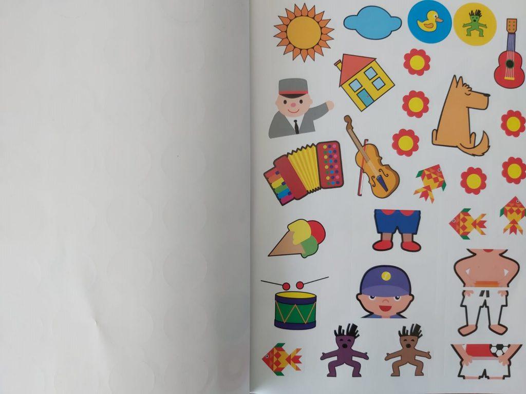 stickers uit het Tik Tak kleuter doeboek