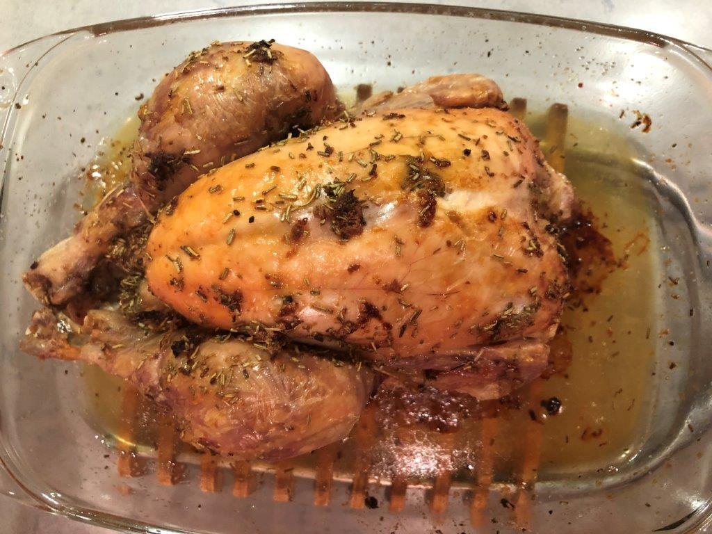Kip met knoflook en citroen uit de oven