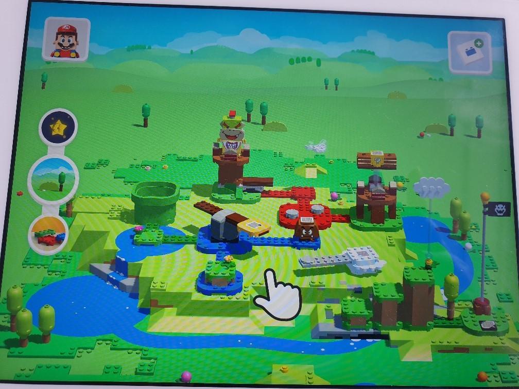Lego Super Mario parcours bouwen