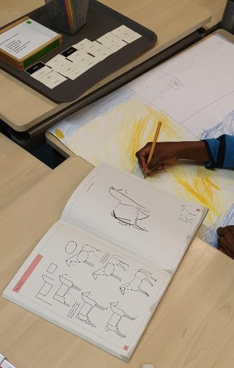 kinderen leren tekenen