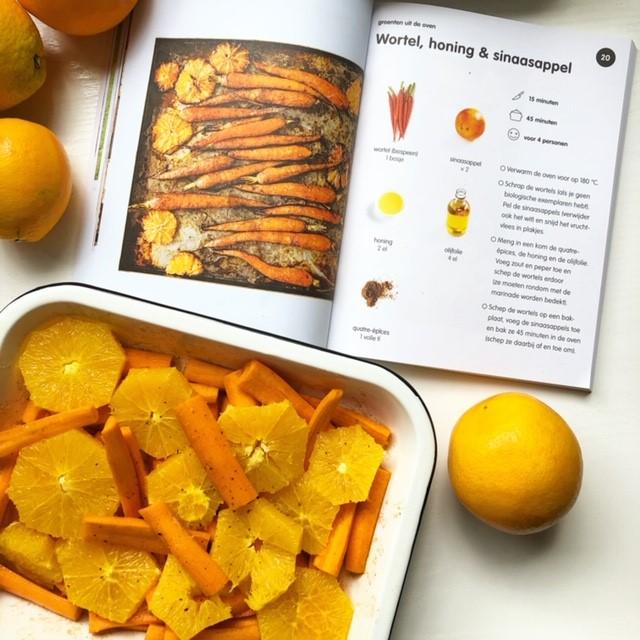 wortel honing en sinaasappel